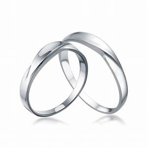 White gold his and her matching wedding rings for couples for Matching his and her wedding rings