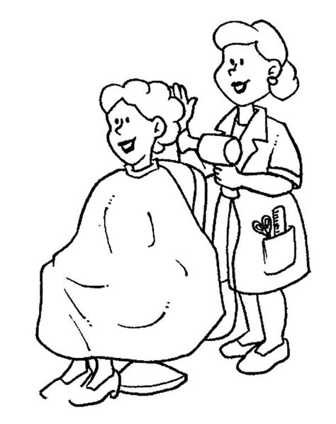 hair stylist  jobs coloring pages coloring pages