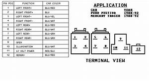 1998 Mercury Tracer Radio Wiring Diagram