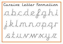 cursive alphabet posters  cursive formation practice