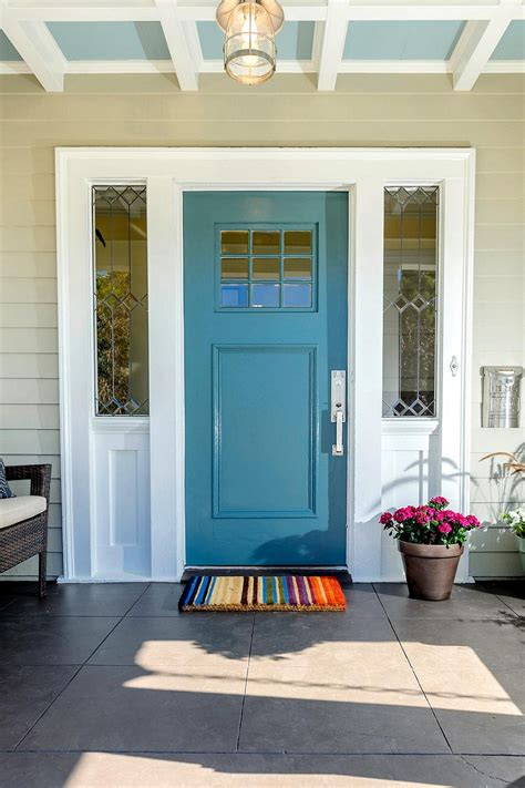 Red Kitchen Paint Ideas - blue front door for a warm and friendly house homestylediary com