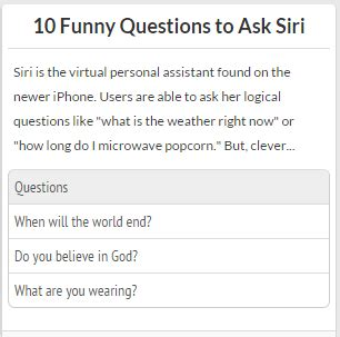 what are the funniest questions to ask siri quora