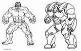 Coloring Iron Hulkbuster Printable Cool2bkids sketch template