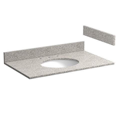 37 inch meteorite gray granite vanity top with pre