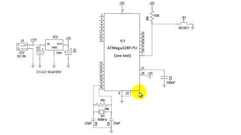 Circuit Diagram And Explanation by Atmega 328 Circuit Explanation