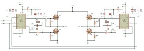 i am using ir 2110 driver circuit to drive mosfet switches of h bridge but as my input voltage