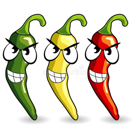 Funny Mexican Hot Chili Peppers Stock Vector