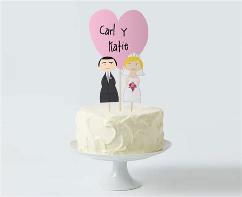 wedding cake topper set custom bride groom heart