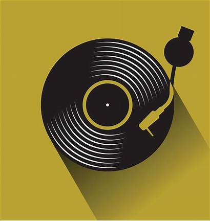 Vinyl Vector Record Disc Illustration Flat Concept