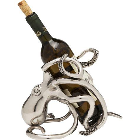 porte bouteille design porte bouteille pieuvre argent 233 kare design