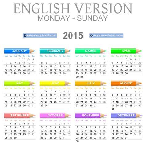 Free Downloadable 2015 Calendar Template Printable 2015 Calendar