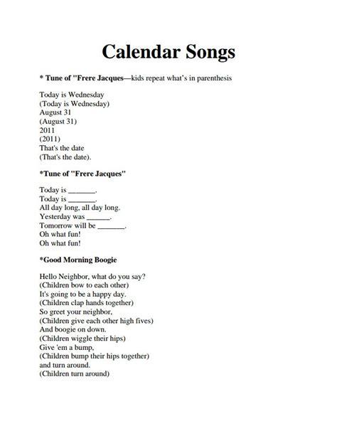 best 25 kindergarten calendar activities ideas on 245 | 556fef6a5e9a228b170199bdd6a02461 morning songs preschool preschool songs