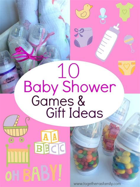 10 baby shower with baby bottles together as family