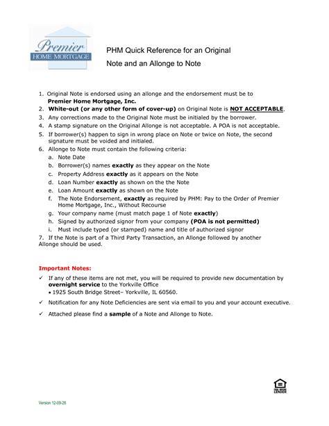 allonge mortgage note sample templates