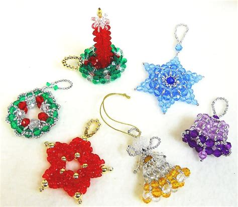 beaded christmas ornament patterns classic holiday designs