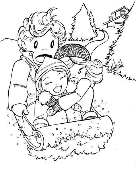 winter coloring pages coloringsuitecom