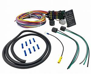 Fuse Relay 12 Circuit Wiring Harness For Chevy Mopar Ford
