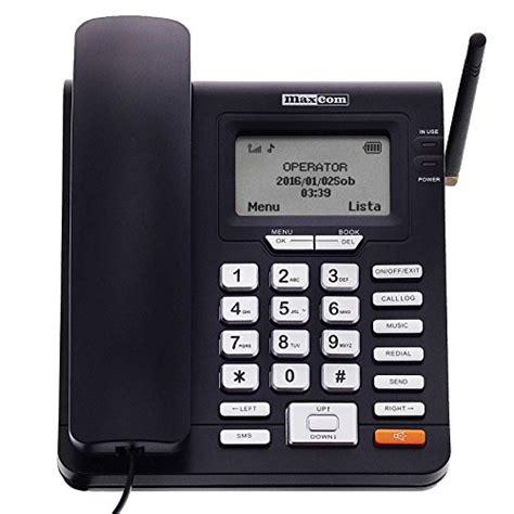 telephone de bureau maxcom téléphone fixe gsm de bureau à carte sim fonction