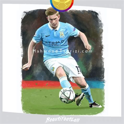 kevin de bruyne Painting soccer painting - Mahmood Tabrizi