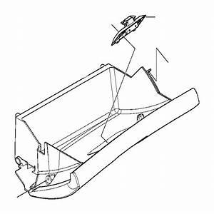 2002 Bmw 320i Glove Box Lock Upper Part  Schwarz - 51168163017