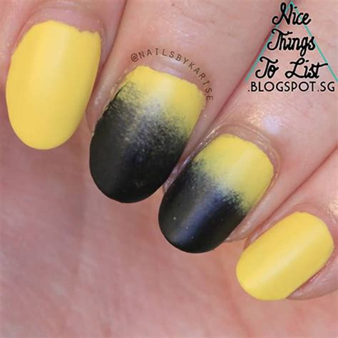 beautiful black ombre nail art design pictures