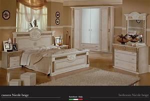 Meuble Laqué Beige : beau meuble italien chambre a coucher et nicole laque ~ Premium-room.com Idées de Décoration
