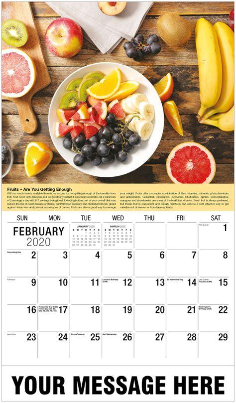health wellness tips promotional calendar business advertising