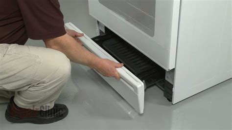 ge gas rangeoven broiler drawer handle replacement wbk youtube