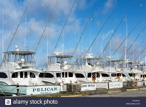 Outer Banks Head Boats by Docked Pleasure Fishing Boats Oregon Inlet Nags Head