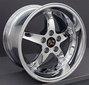 "17"" Chrome Cobra R wheels rims fit 2000 2001 Mustang® GT B1W | eBay"