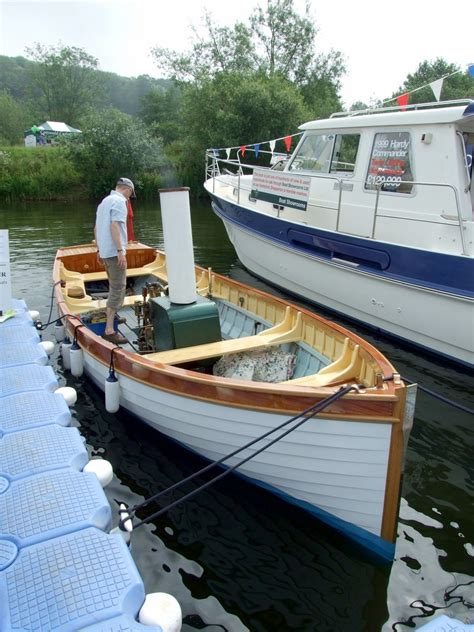 Boat Launch Steamboat by Steam Engine With Conventional Sailboat Hull
