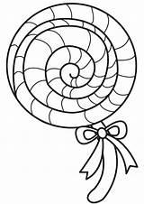 Lollipop Coloring Pa Pages Printable Getcolorings Getdrawings sketch template