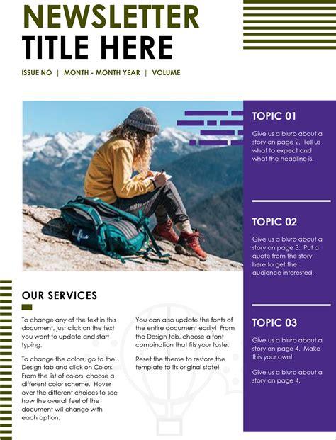 printable  newsletter templates  school
