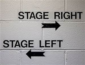 Stage Right -- Stage Left