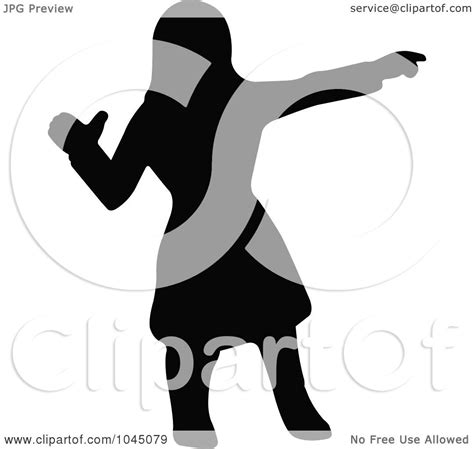 royalty free rf clip illustration of a black silhouetted american pointing by