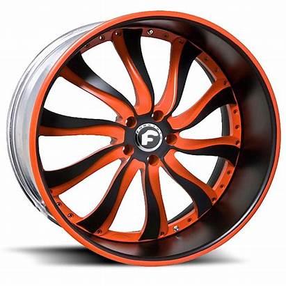 Wheels Forgiato Inferno Orange Lip Center Tires