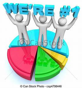 Body Comp Chart Stock Illustration Of We 39 Re Number One Market Share Pie