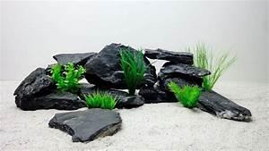 Aquarium Deko Steine : pro st ck aquarium deko natursteine in schwarz 1 2kg steinr ckwand steine aquaristik ~ Frokenaadalensverden.com Haus und Dekorationen