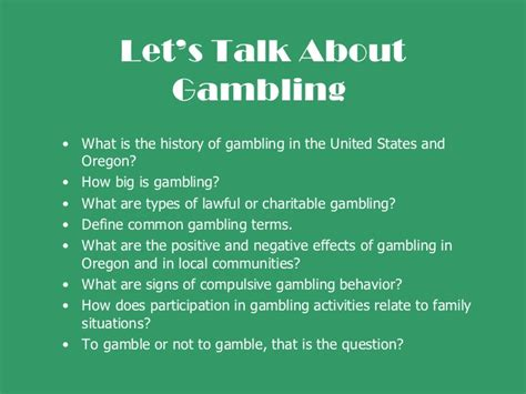 Let's Talk About Gambling  Jackson County