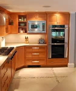 Quartz Countertops with Cherry Cabinets
