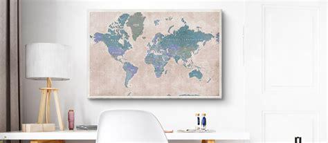 black canvas cartes du monde tableau carte du monde à épingler