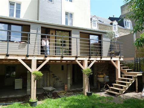 agrandissement cuisine sur terrasse extension terrasse recherche idées travaux