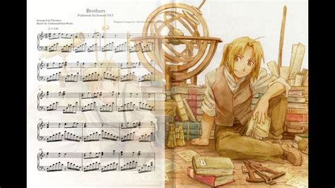fullmetal alchemist brothers piano cover sheets