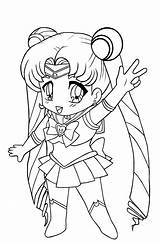 Coloring Pages Sailor Moon Luna Chibi Ages Popular Cosmos sketch template