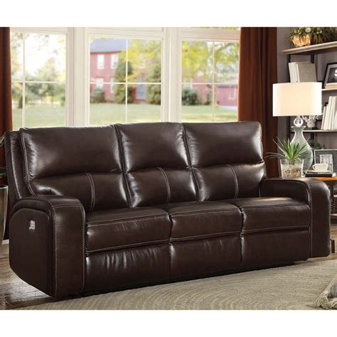 Loveseat Costco by Zach 3 Seater Brown Leather Power Recliner Sofa Costco Uk
