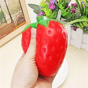 Squishy Strawberry Jumbo 11.5cm Slow Rising Soft Fruit ...