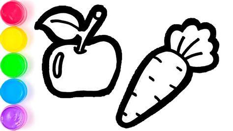 pelajari menggambar dan mewarnai buah buahan dan sayuran