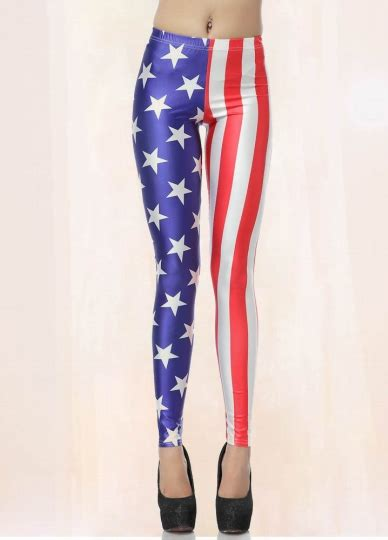 american star flag print leggings american flag leggings