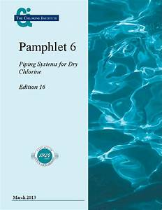 Pamphlet 6  Piping Systems For Dry Chlorine  Bookstore