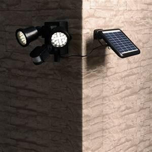 Spot Detecteur De Mouvement : spot solaire puissant d tecteur de mouvements 2 lampes 600 ~ Dailycaller-alerts.com Idées de Décoration